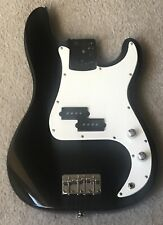 2001 Fender Squier P Bass Loaded Body -Solid Wood- Black - w/USA Upgrades Nice!