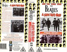 THE BEATLES - A HARD DAY'S NIGHT - SPECIAL EDITION - VHS - N&S - PAL - VERY RARE