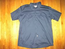 Big & Tall Dickies Men's Navy Blue Short Sleeve Work Shirt Sizes Size 3XL New