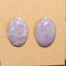 Lepidolite Cabochons 18x13mm with 5mm dome Set of 2 (13654)