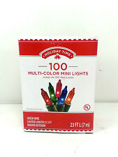 100 Multi Color Mini Christmas Lights Indoor Outdoor 4 Boxes New