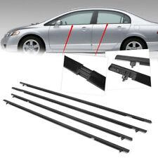 4X Car Outside Window Moulding Weatherstrip Seal Belt For Honda Civic 2006-2011