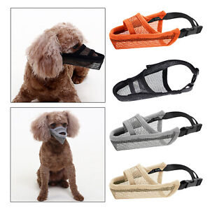 Dog Muzzle for S M L Dogs Air Mesh Drinkable Mesh Muzzle Anti-Biting Licking
