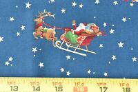 By 1/2 Yd, Vintage, Santa w Metallic-Gold Stiffer Cotton/Cranston/Messmore,P3747