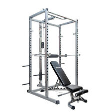 Merax  Power Rack w/Incline Bench,Squat Cage with Lat Pull Attachment