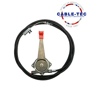 """12ft 6"""" universal hand throttle cable assy    Cable Tec"""