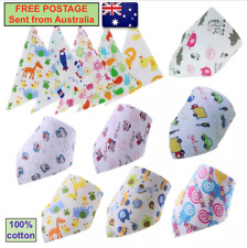 Bandana baby bibs - 4 pack - mixed patterns - FREE POSTAGE - sent from Aust C3