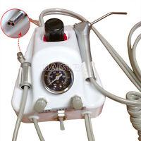 Dental Air Turbine Unit 3 Way Water Syringe 4 Holes & Water Bottle Air Control