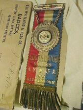 Mine Mining.1898 Miners Union Chest Ribbon.United Mine Workers Of America