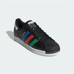 Adidas Superstar Trainers Black White Authentic Brand New