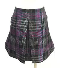 NWT Small JOIE Mini Skirt Plaid Caviar Inverted Pleat Fit and Flare A-Line RARE
