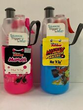 Mickey & Minnie Set Of 2 12oz O2Cool Mist And Sip Bottles