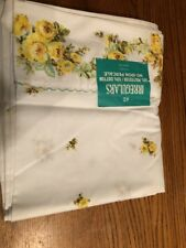Vintage Floral Retro Full Double Flat Sheet Sewing Fabric