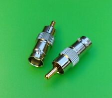 (2 PCS) RCA Male to BNC Female Connector