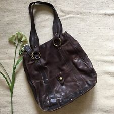 Caterina Lucchi Brown Leather Tote Purse Bag