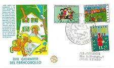 ITALIA REP. - 1975 - Giornata del Francobollo - XVII° giornata su FDC Filagr.
