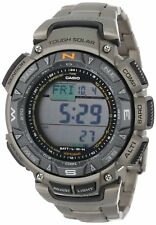 Casio Pro Trek Men's PAG240T-7 Solar Triple Sensor Titanium Band 51mm Watch