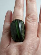 Ring Size 6.5 Green Tagua Nut