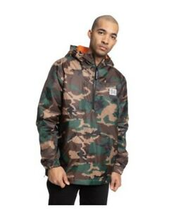 New Mens DC Bolam Camo Snow Winter Jacket Camouflage Camping Medium Puffer [S3]