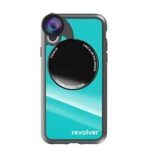 Coque iPhone X/Xs avec Revolver 4en1 - Texture - Turquoise - iPhone
