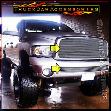 For DODGE 1500 2500 3500 Ram 2002-2005 2PC Polished Grille Combo Upper wo+Bumper
