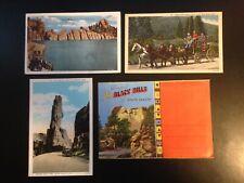 0394 6 postcard lot + 1 folder, South Dakota, Black Hills, good condition, vinta