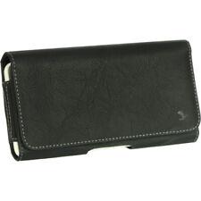 Black Luxmo Premium Leather Belt Clip Pouch Holster Phone Holder Horizontal