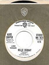 ALICE COOPER * 45 * Hello Hurray * 1973 LONG SHORT * DJ PROMO Vinyl Near MINT !