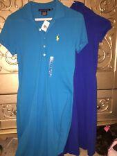 Two Blue Polo Ralph Lauren Womens Dress Logo Tennis Golf Sport XS NWT