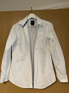 Ladies Crew Clothing Long Sleeved Shirt Size 10 Classic Fit White Excellent