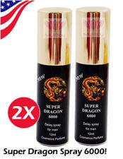 2X Super Dragon 6000 Delay Longer Sex Ejaculation USA Genuine NEW Formula 2 pcs