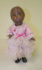 EFFANBEE PATSY ANN DOLL BLACK PORCELAIN REPRODUCTION DOLL 12""