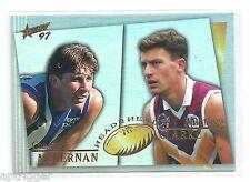 1997 Select Head to Head (H2H5) McKERNAN North Melbourne & CLARKE Brisbane