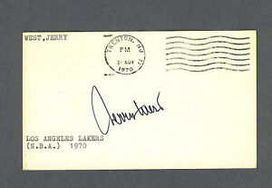 Jerry West signed 1970 Government Postcard