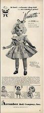1951 Arranbee Doll Company, Inc  PRINT AD Four models detailed Nanette, Nancy +