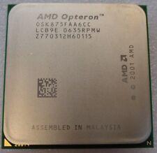AMD doble Core Opteron 875 He-OSK875FAA6CC 2.2 90 Días Garantía RTB