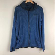 Men Nike Dry Long Sleeve Training Top SIZE XL 742492 418 BLUE!