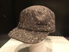 69a18d9cd50 Gap Brown Tweed Lined Newsboy Poor Boy Style Hat Cap S M Adjustable