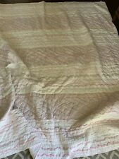 Pottery Barn Kids Full Size Bed Quilt White And Pink