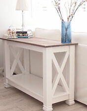 Console Table Hamptons Farmhouse Style Console Hall Sofa Table White Stained Top