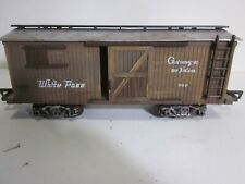 "G scale White Pass Alaska ""wood"" boxcar freight train"