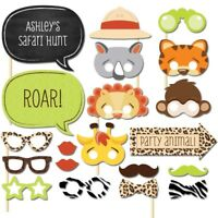 20pcs Zoo Animal Mask Photo Booth Props Birthday Party Children's Festival Decor