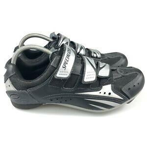 Specialized Mens Sport 6 6106-4443 Black Silver Low Top Cycling Shoes Size 10