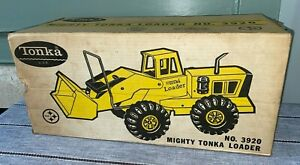 Mighty Tonka Loader No. 3920 Original BOX ONLY Vintage Pressed Steel Toy Truck