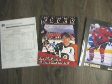 Flyers 11/10/96 Program & Line up card Eric Lindros Team Canada Leafs RARE