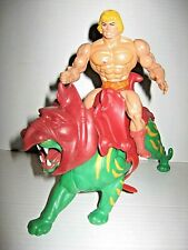 Vintage He-man and Fully Armored Battle Cat MOTU