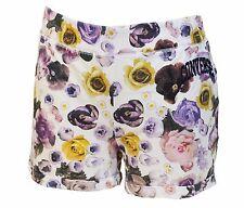 PANTALONCINI DONNA CONVERSE FIORI TG. L SHORT WOMAN shorts 6SD555 FLOWER BIANCO