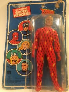 "1975 Mego HUMAN TORCH 8"" Action Figure Fantastic 4"