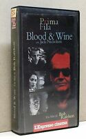 BLOOD & WINE [vhs, prima fila, l'espresso cinema, Nicholson]