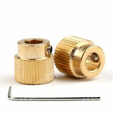 2x Extruder Drive Gear 40 Teeth 5mm Bore Copper 1.75mm Filament For 3D Printer